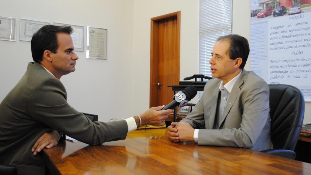 Presidente do Sindicato do Comércio Varejista de Goiás, José Carlos Palma Ribeiro | Foto: Guilherme Coelho
