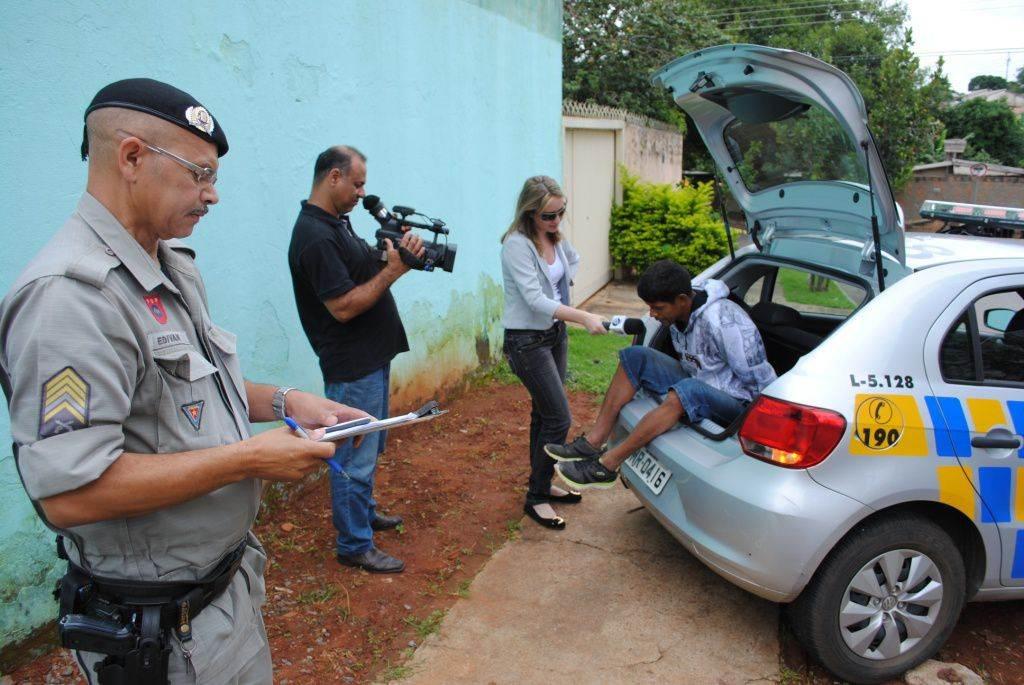 A ousadia de Uingles chamou a atenção da imprensa | Foto: Valdemy Teixeira (especial para o FZ)