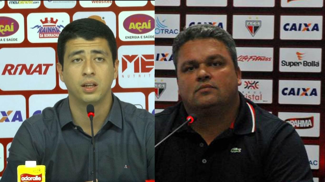 Diretores defutebol Felipe Albuquerque e Adson Batista, do Vila e do Atlético | Foto: Reprodução
