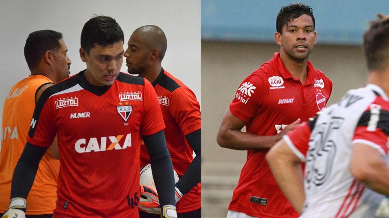Nos bastidores, a possibilidade mais comentada foi uma troca entre o goleiro atleticano Felipe e o atacante vilanovense Wallyson | Foto: Reprodução