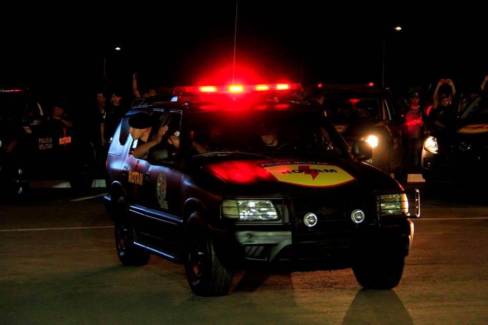 Viatura de Rotam durante patrulhamento | Foto: Divulgação