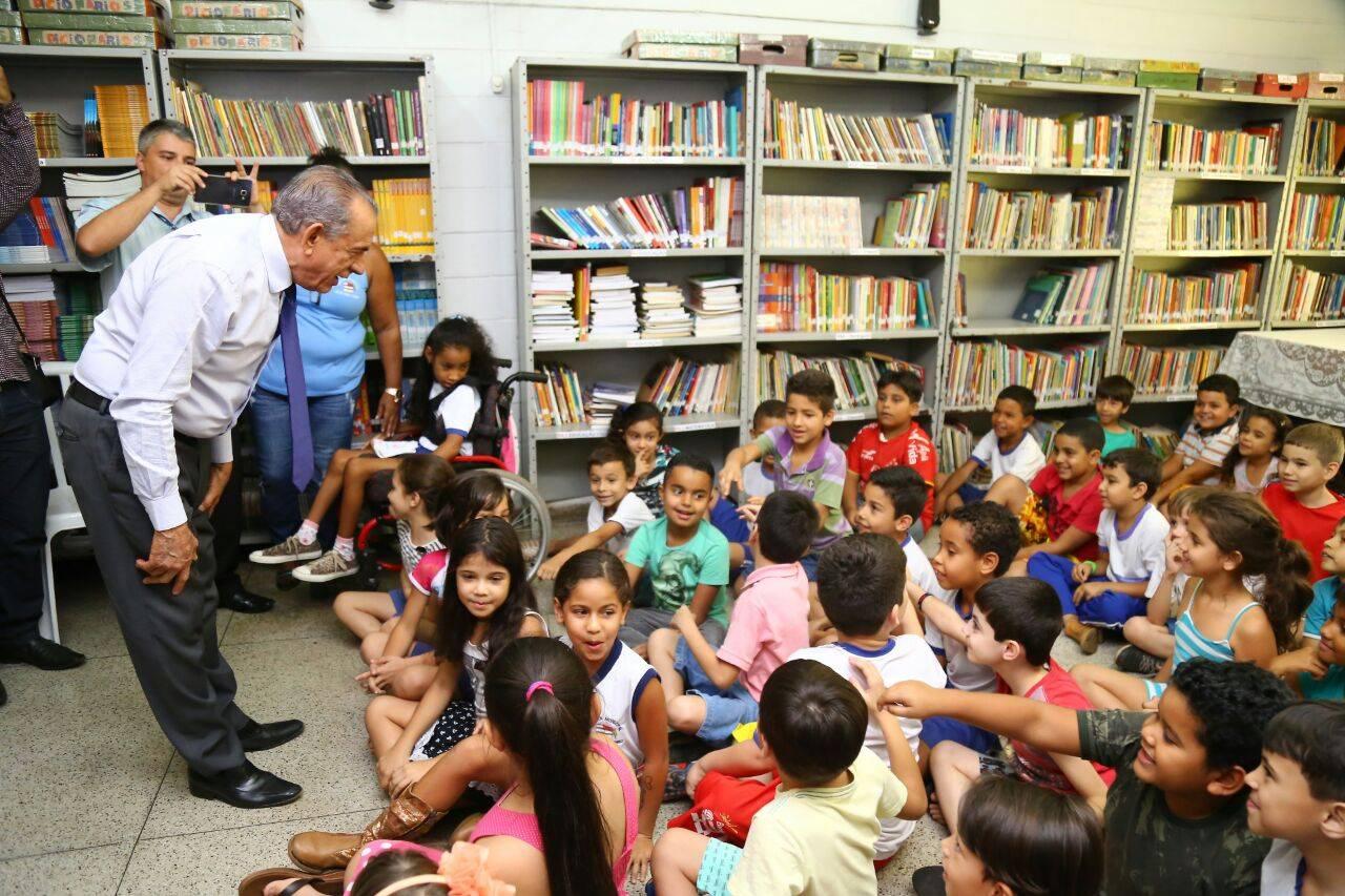 Iris visita Escola Municipal Victor Hugo, na Cidade Jardim | Foto: Assessoria