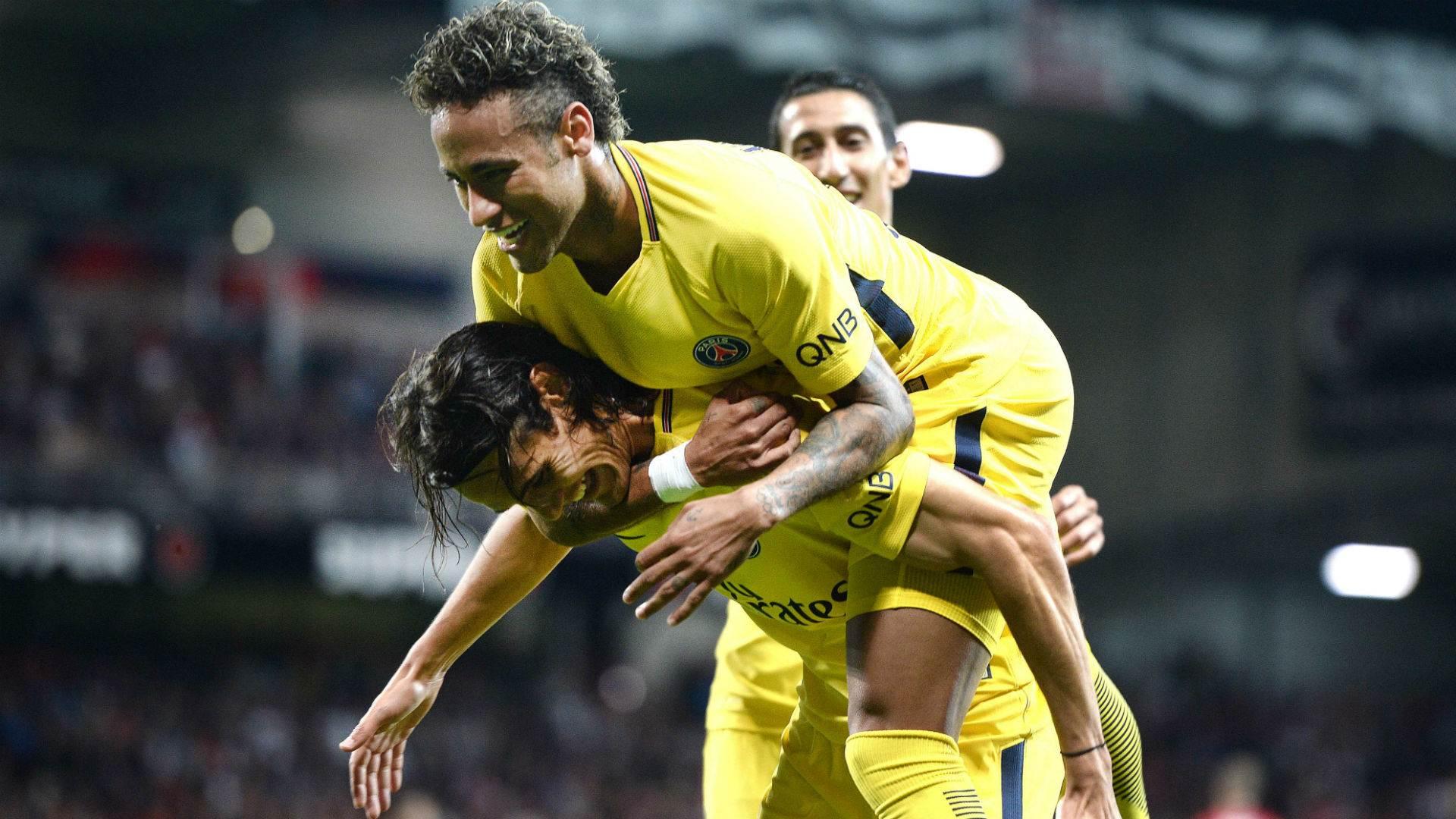 Neymar e Cavani fazem dupla de ataque mais poderosa do Campeonato Francês   Foto: Reprodução