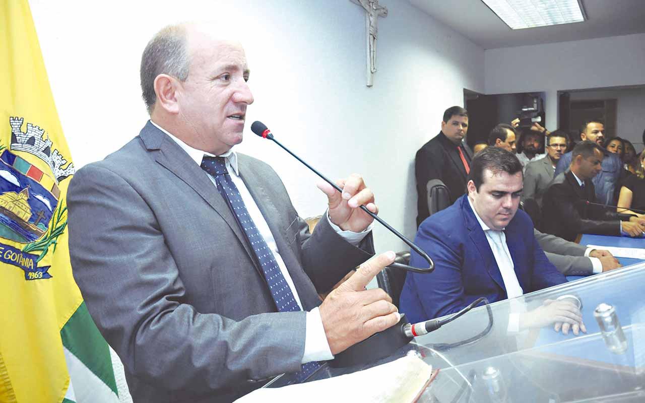 Presidente da Câmara de Aparecida,Vilmarzin (PMDB) | Foto: Reprodução
