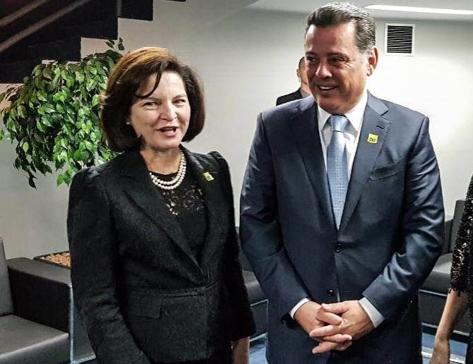 Procuradora Geral da República Raquel Dodge e governador de Goiás Marconi Perillo | Foto: Reprodução