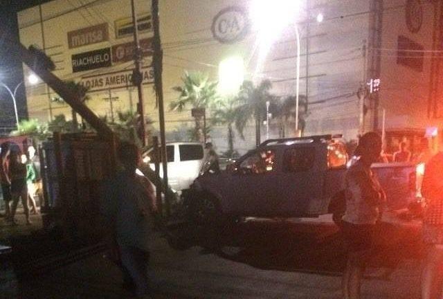 Atropelamento foi em frente ao Buriti Shopping | Foto: Leitor / WhatsApp