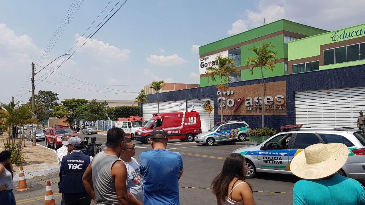 Colégio Goyases, em Goiânia, foi palco de tragédia no dia 20 de outubro | Foto: Folha Z