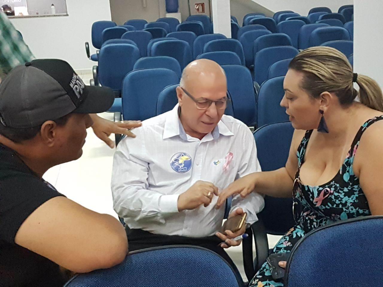 Líder classista Maione Padeiro, empresário Professor Alcides e advogada Lorena Ayres   Foto: Valdemy Teixeira