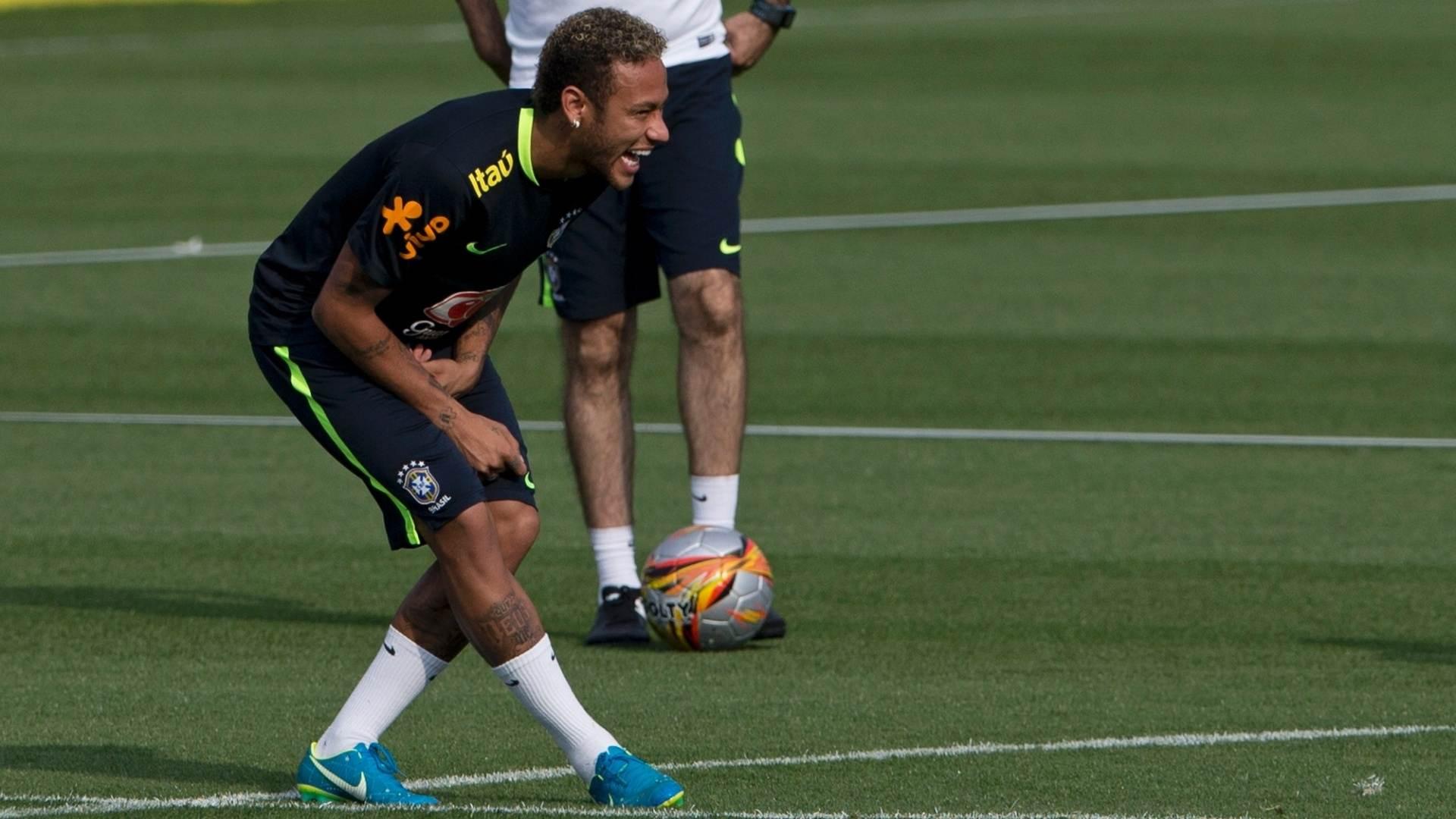 Neymar treina com a Seleção Brasileira na Granja Comary | Foto: Reprodução