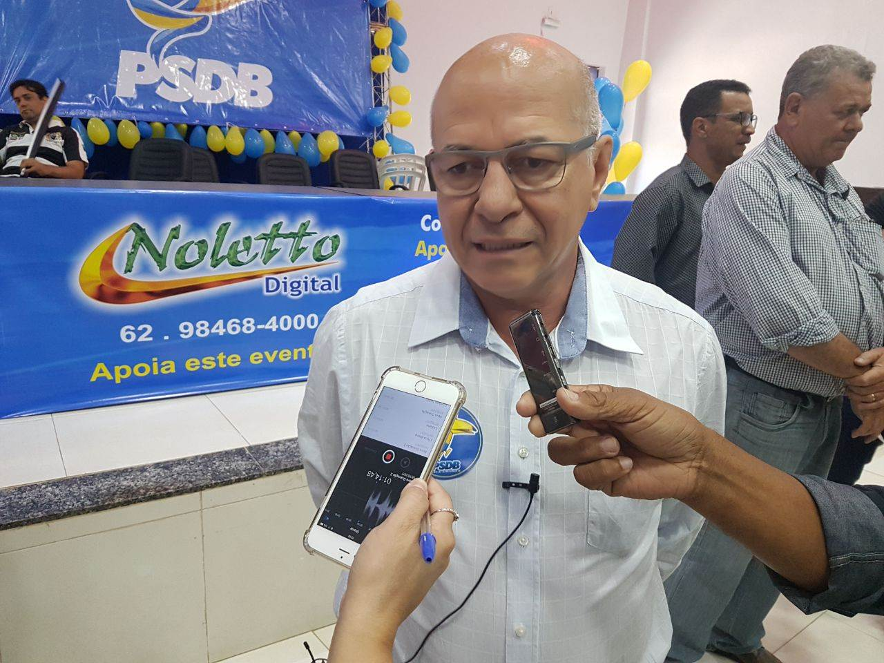 Professor Alcides também marcou presença no evento   Foto: Valdemy Teixeira