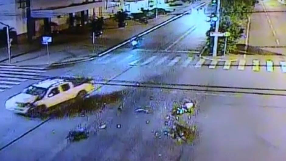 Motorista bêbado atropelou e matou mulher em Aparecida de Goiânia   Foto: Reprodução / Câmeras de Segurança