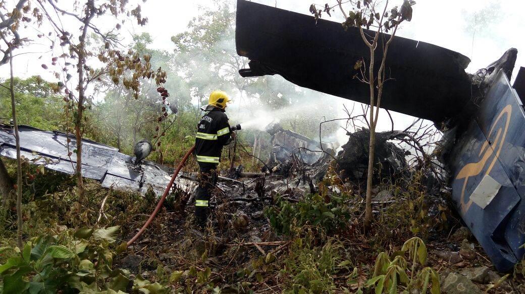 Corpo de Bombeiros foi acionado para atender vítimas de queda de avião em Goiás | Foto: Divulgação