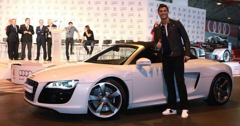 Cristiano Ronaldo tem parceria com a Audi, o que ajuda na coleção   Foto: Reprodução