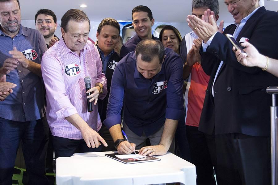 Deputado federal Jovair Arantes em encontro do PTB | Foto: Alê Moraes