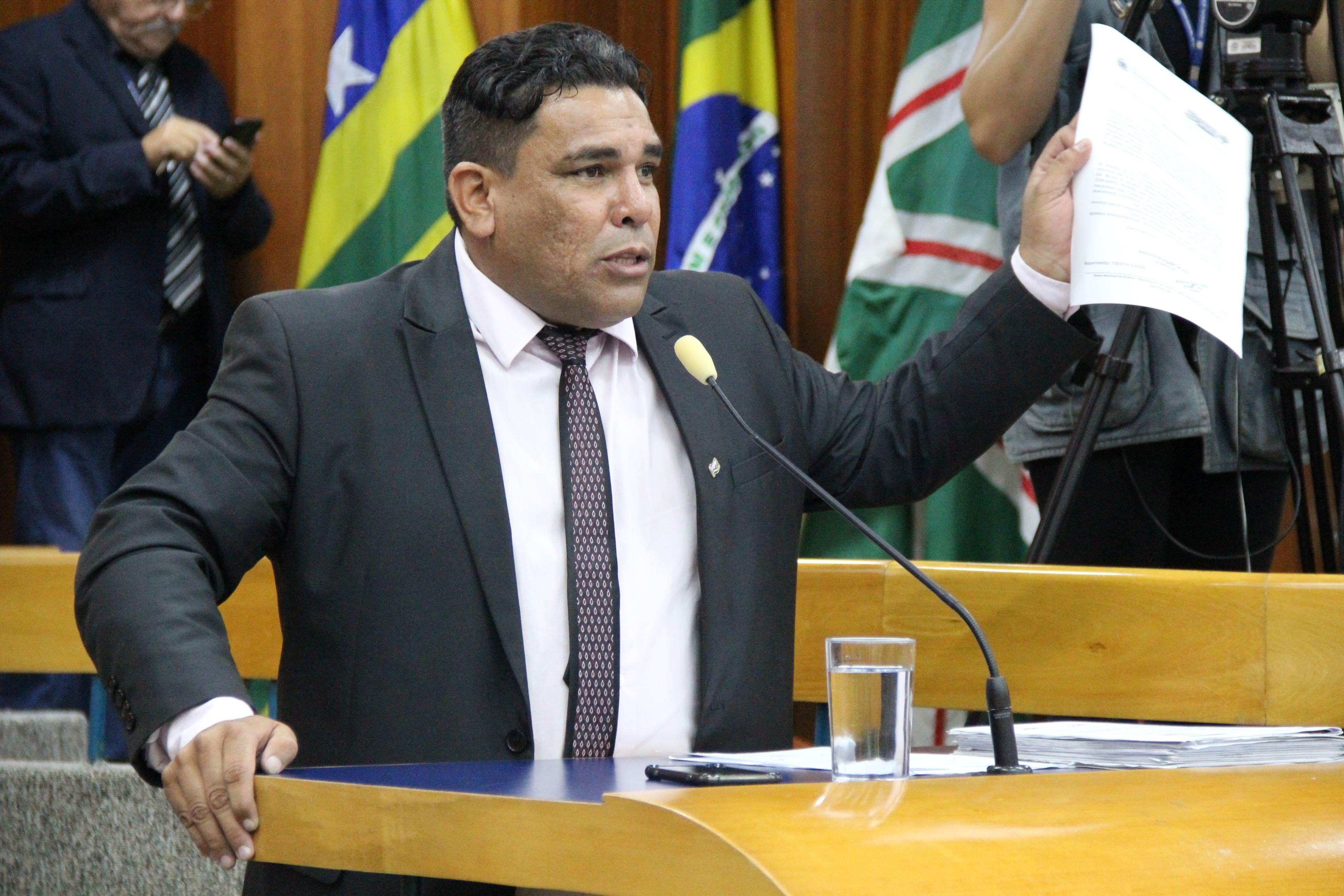 Vereador Anderson Sales Bokão (PSDC) | Foto: Câmara de Goiânia