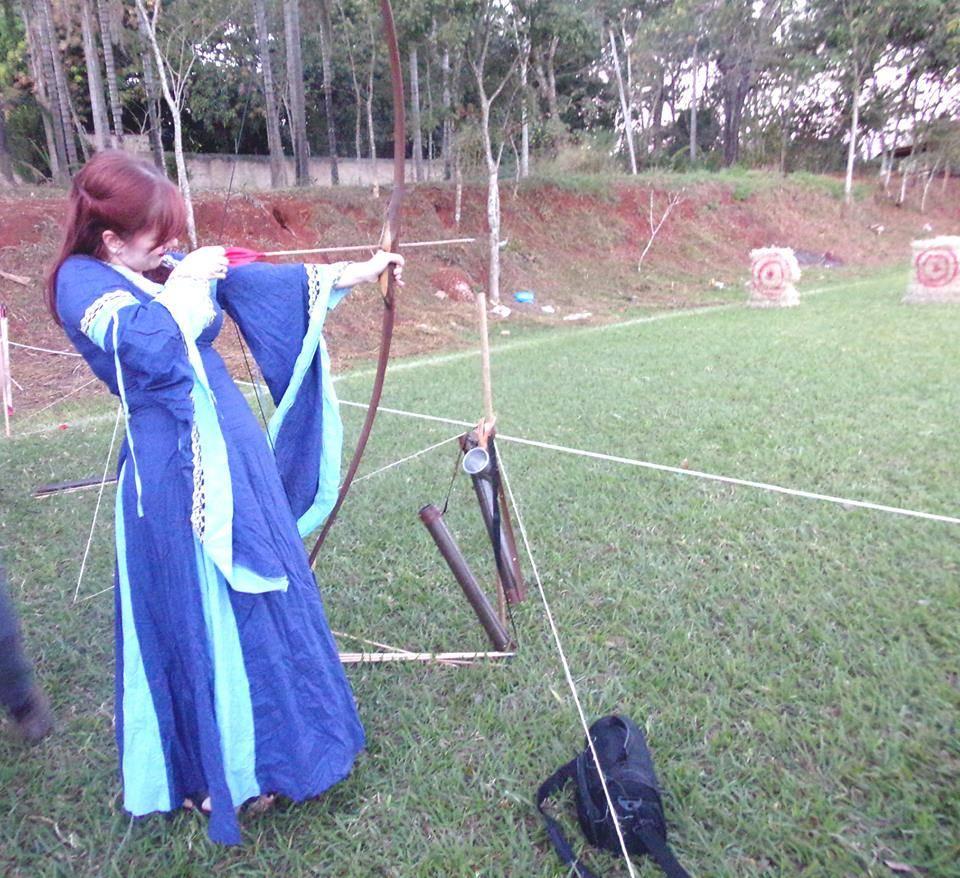Arco e flecha no 1º Encontro Valhalla | Foto Divulgação
