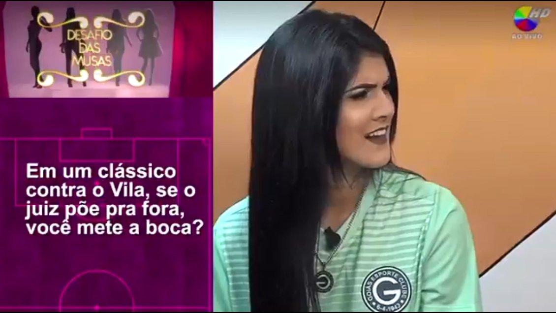 Musa do Goiás é submetida a perguntas sexuais e time promete represália | Foto: Reprodução/ TV Goiânia
