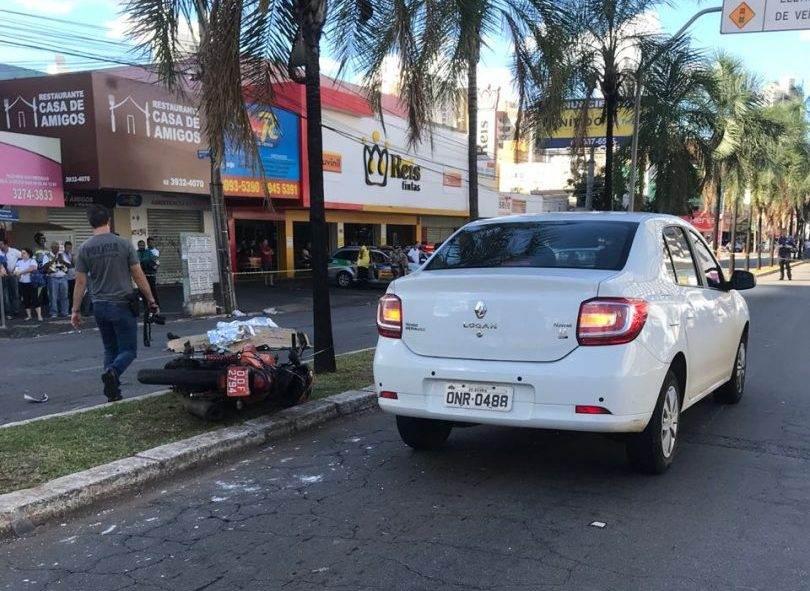 Acidente na Av. T-7 deixa mototaxista morto | Foto: Reprodução/ Dict