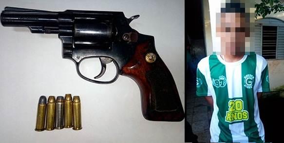 Suspeito de assalto na UFG é preso com arma de fogo roubada | Foto: Divulgação/ PM