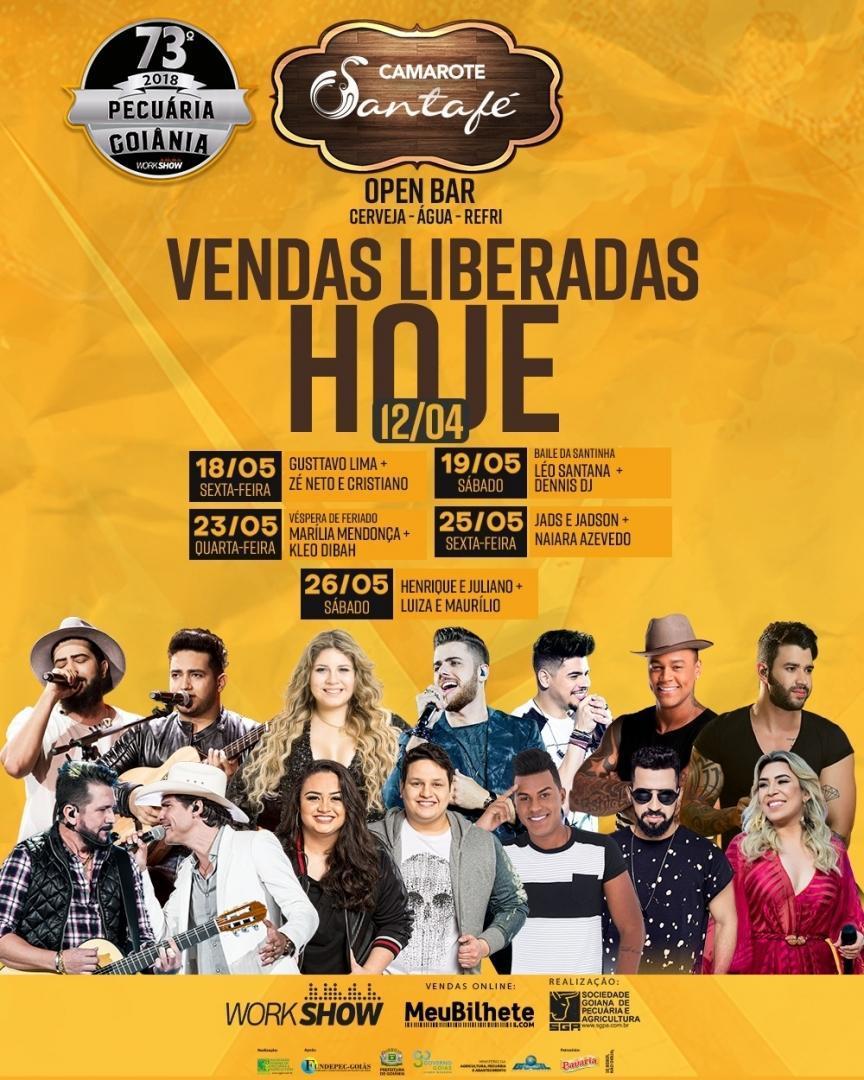 Boate Santafé promoverá seu camarote open bar na Pecuária de Goiânia 2018   Foto: Divulgação