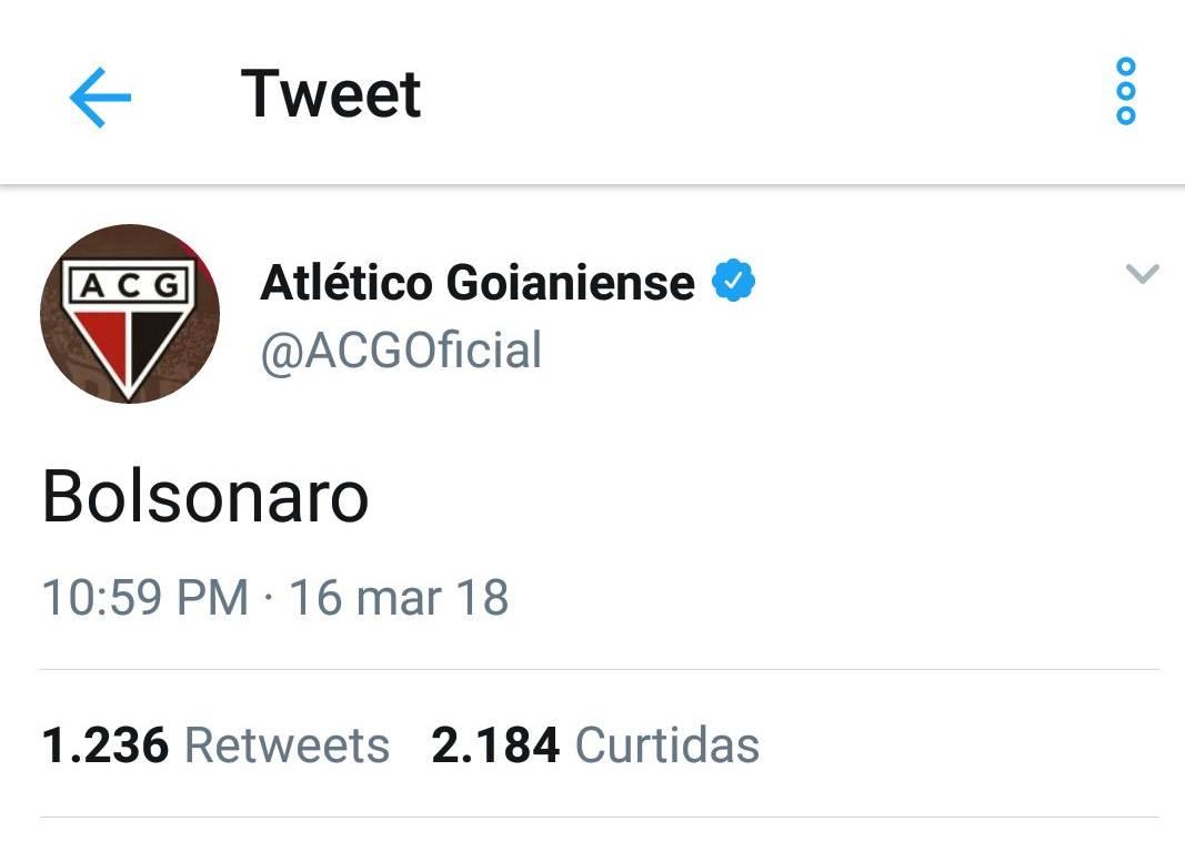 Mensagem polêmica no Twitter foi ação de hacker, diz Atlético   Foto: Reprodução/ Twitter
