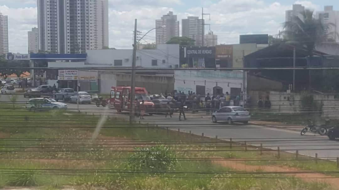 Crime foi registrado no início da tarde desta terça, 27, em Aparecida de Goiânia   Foto: Leitor/ Whatsapp