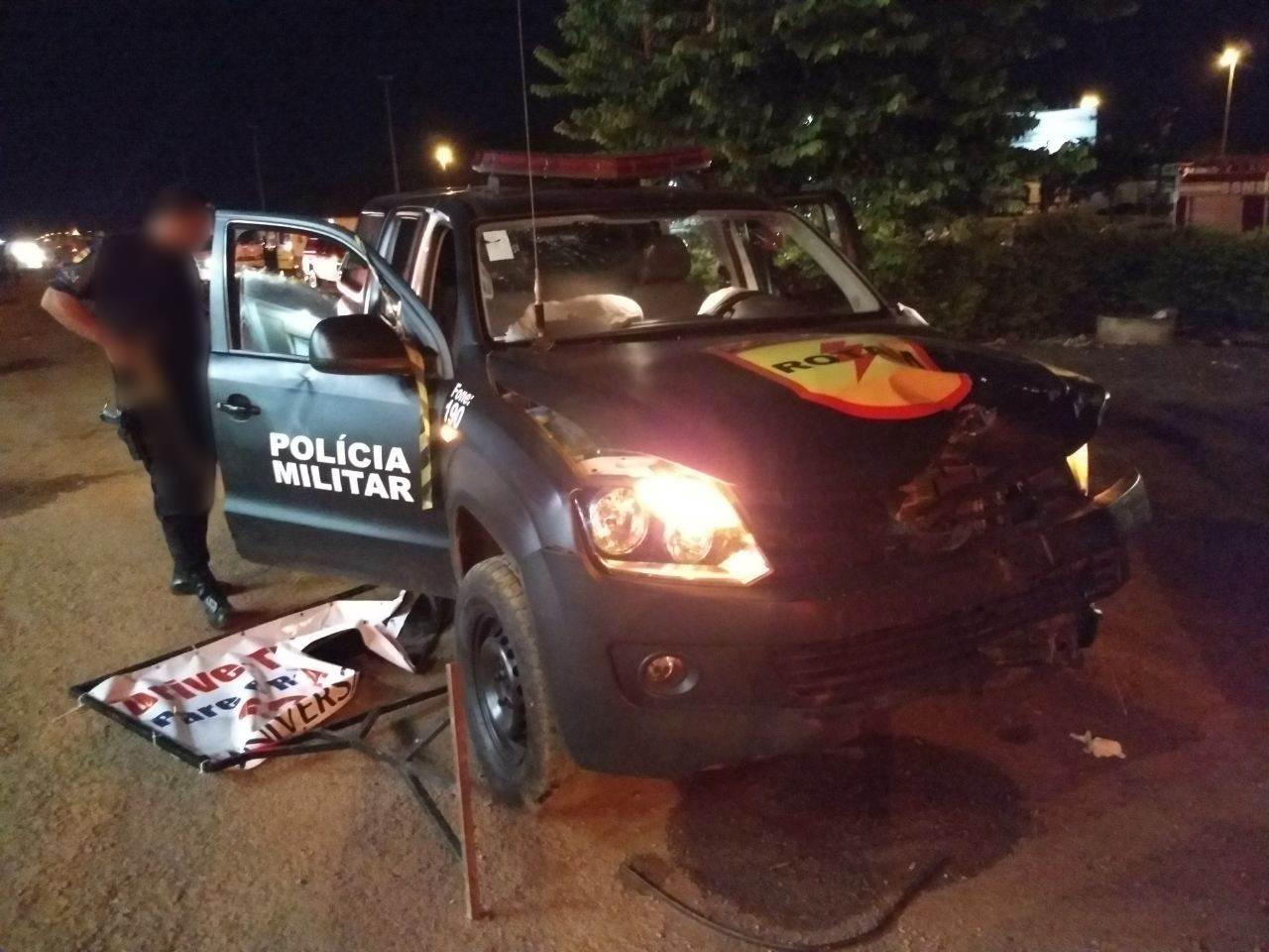 Em Luziânia, acidente com viatura da Rotam deixa vítima fatal | Foto: Reprodução/ WhatsApp