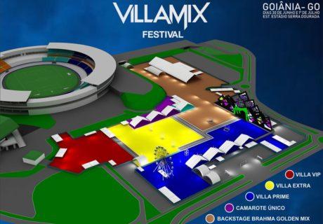 Mapa do Villa Mix Goiânia 2018   Foto: Divulgação