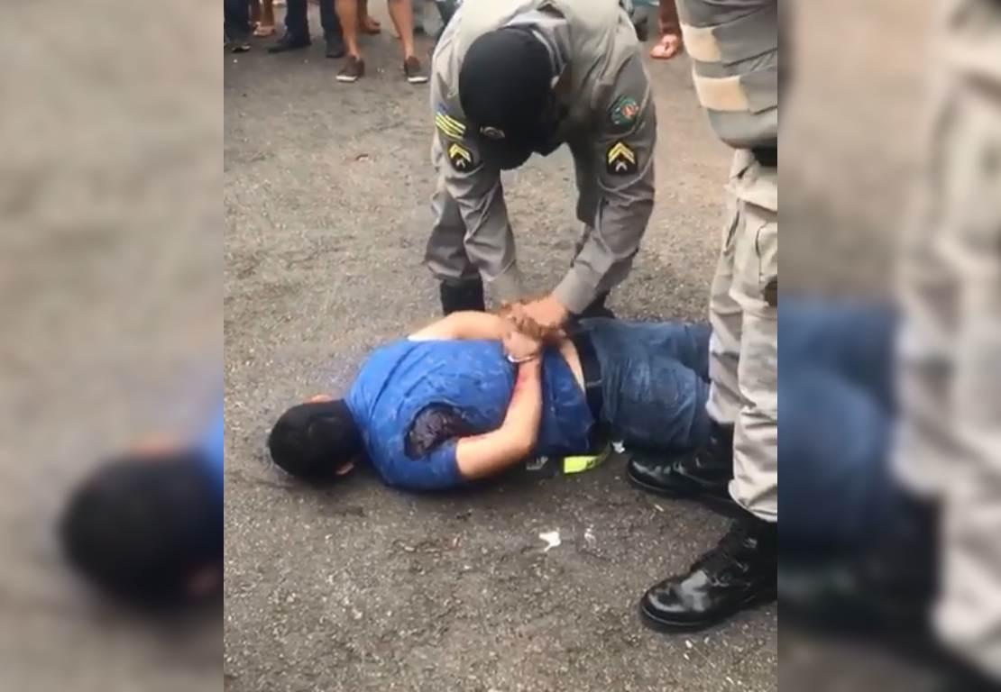 Homem é baleado por guarda ao tentar assaltar na Vila União | Foto: Leitor/ WhatsApp
