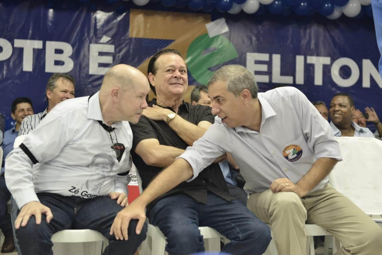 PTB   Demóstenes Torres, Jovair Arantes e José Eliton: os três caminharão juntos nas eleições deste ano   Foto: Ruber Coutor