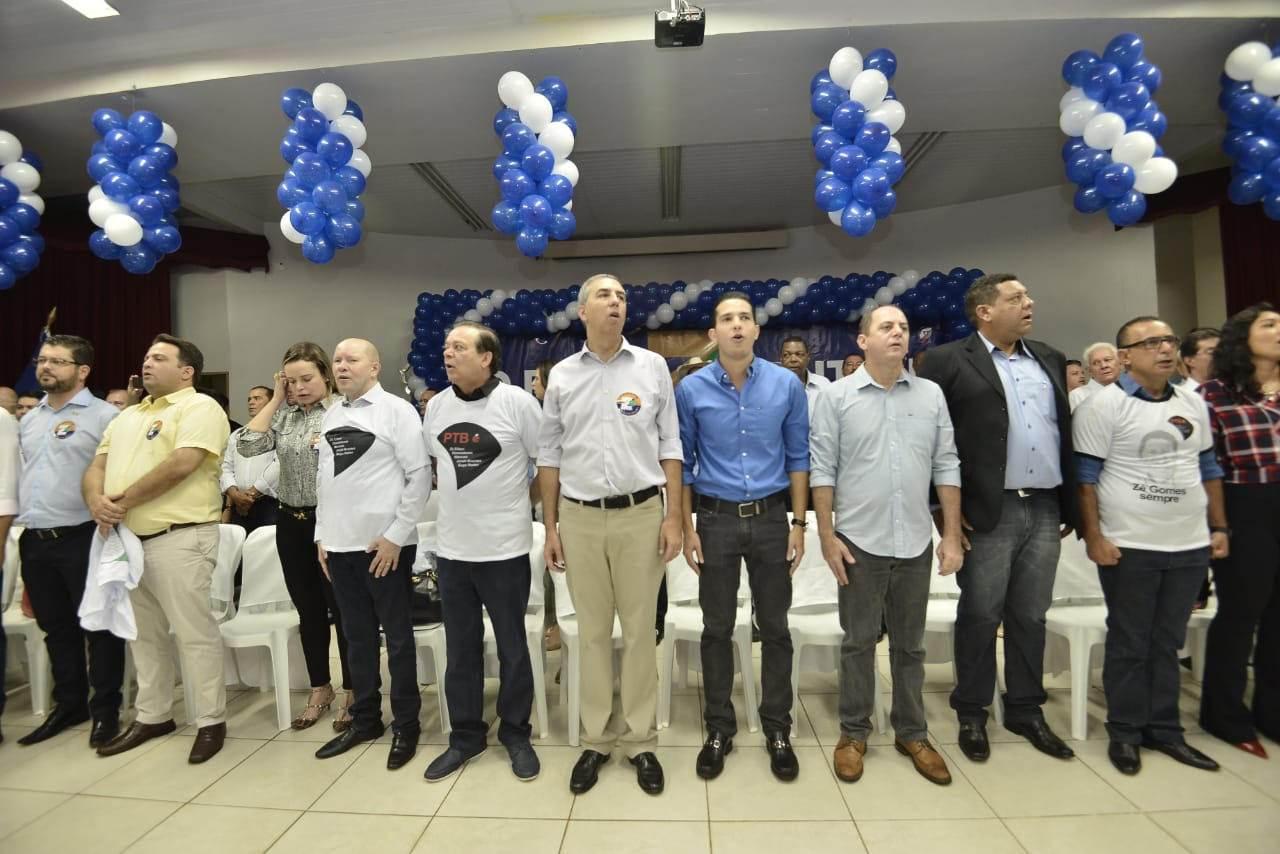 PTB em peso participou do evento em Itumbiara   Foto: Ruber Couto