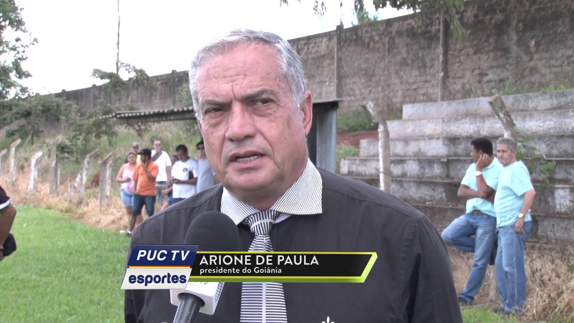 Presidente doGoiânia Arione José di Paula   Foto: Reprodução/PUC TV