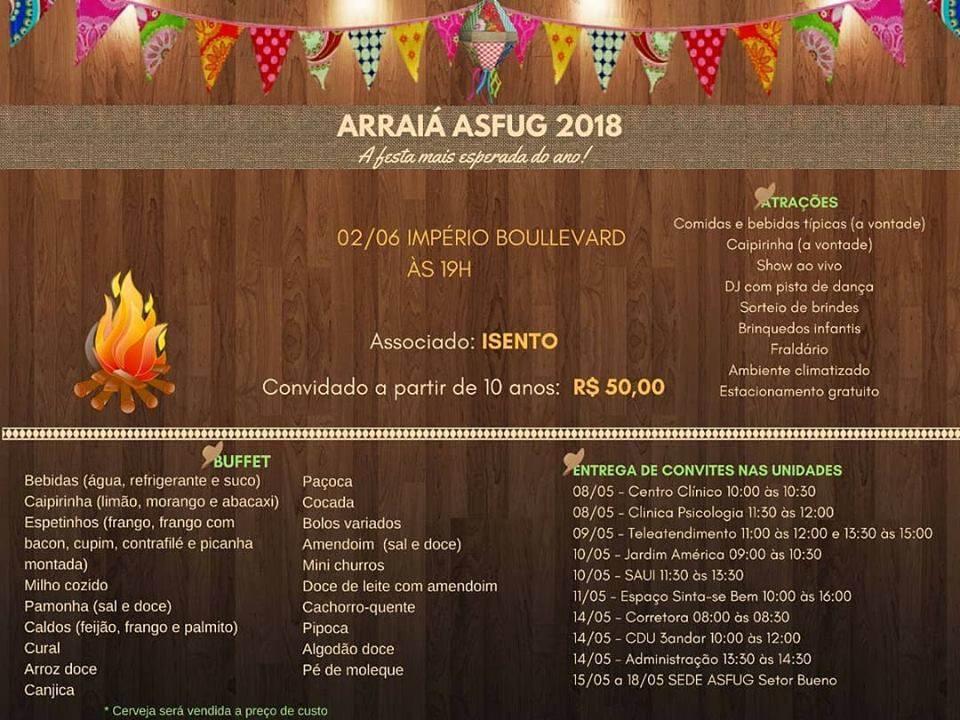 Arraiá Asfug 2018 | Foto: Divulgação