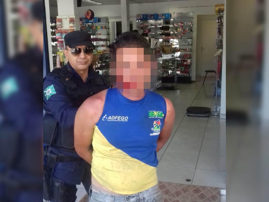 Após tentativa de estupro contra funcionária de farmácia, homem é detido em Goiânia | Foto: Divulgação/GCM