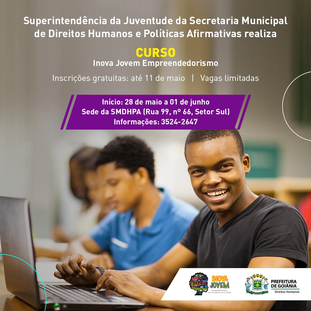 Inova Jovem Empreendedorismo, projeto da prefeitura voltado para a juventude | Foto: Divulgação/Prefeitura de Goiânia