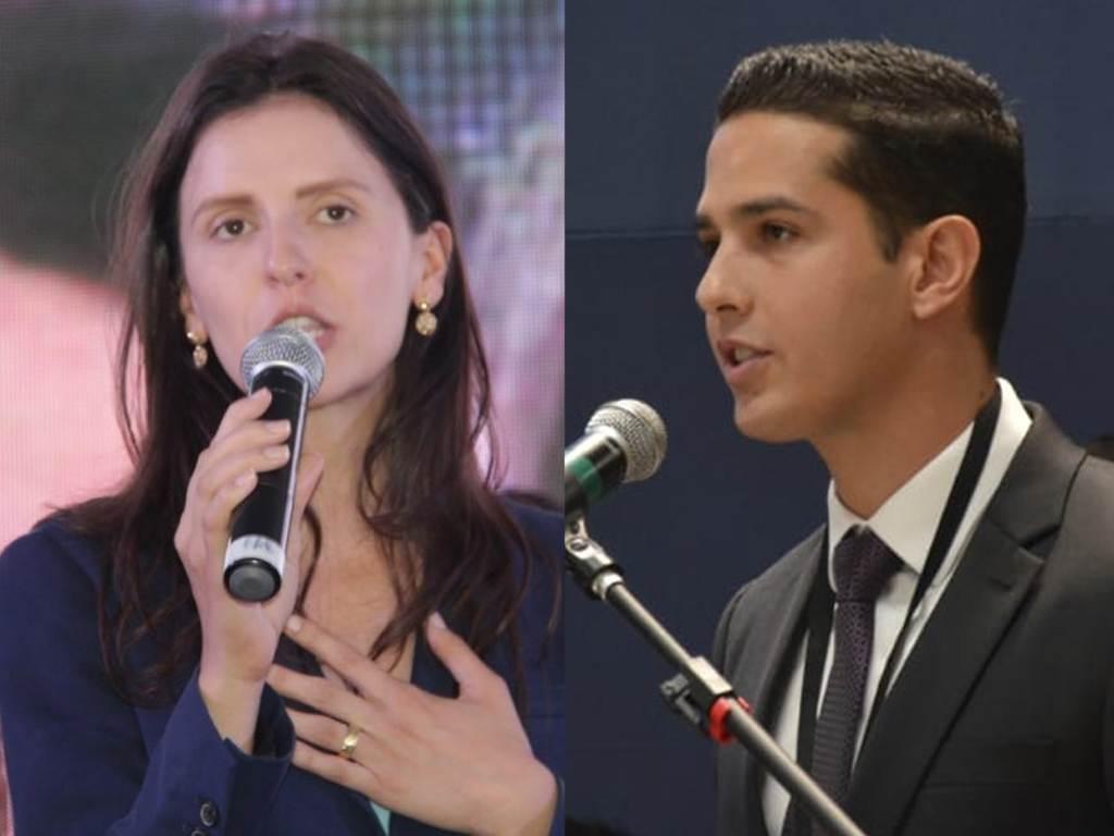 Prefeito de Itumbiara Zé Antônio e prefeita de Bela VistaNárcia Kelly | Fotos: Reprodução