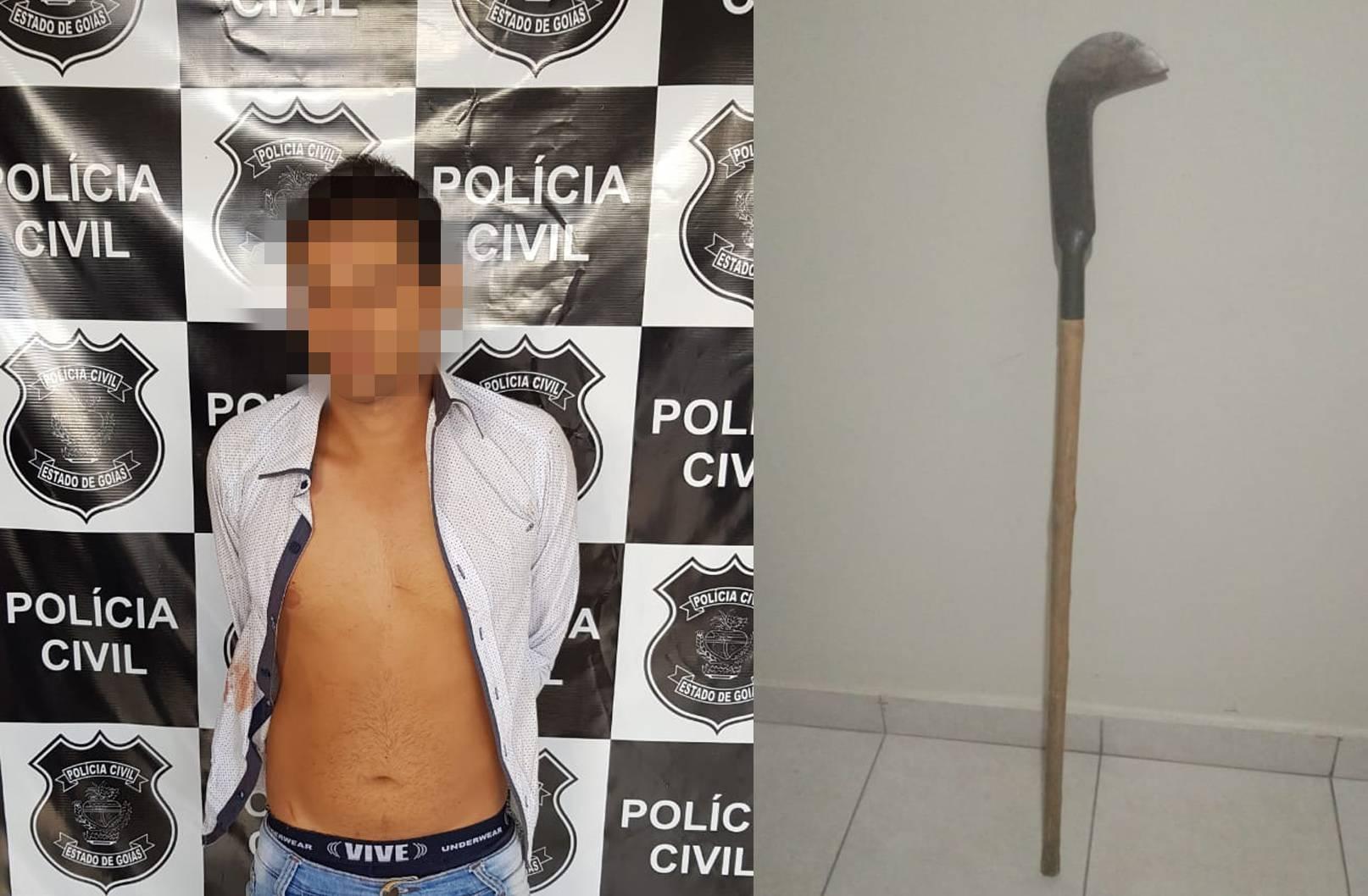 Homem golpeia e mata a própria filha com foice e é preso em Minaçu | Foto: Divulgação/PC