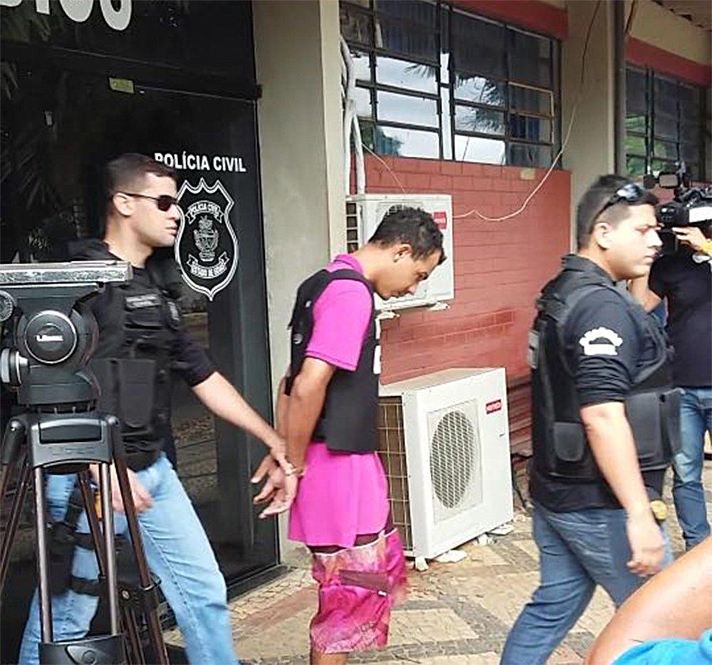 Após crime que chocou o Jardim América, Jhenyweltton Teixeira será encarcerado na Penitenciária Odenir Guimarães   Foto: Reprodução