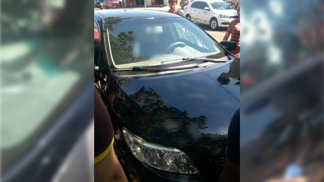 Vítima já estava sem vida quando foi atendida pelo Corpo de Bombeiros | Foto: Leitor / Whatsapp