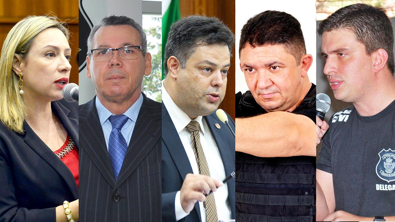 Veja quem são os policiais goianos com chances de se elegerem em Goiás em 2018   Foto: Montagem