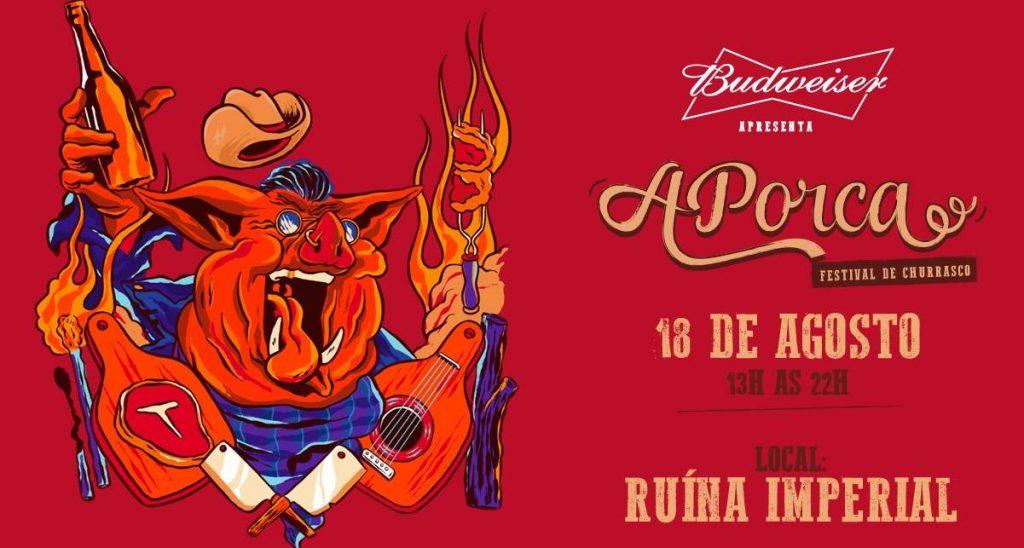 Festival APorca 2018 já é sucesso de bilheteria   Arte: Reprodução/ Site APorca