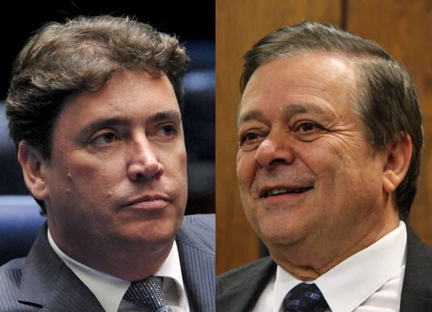 Senador Wilder Morais (DEM) e Jovair Arantes (PTB)   Foto: Reprodução