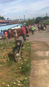 Grave acidente no Jardim Ipiranga, em Aparecida, que resultou na morte de uma pessoa   Foto: reprodução