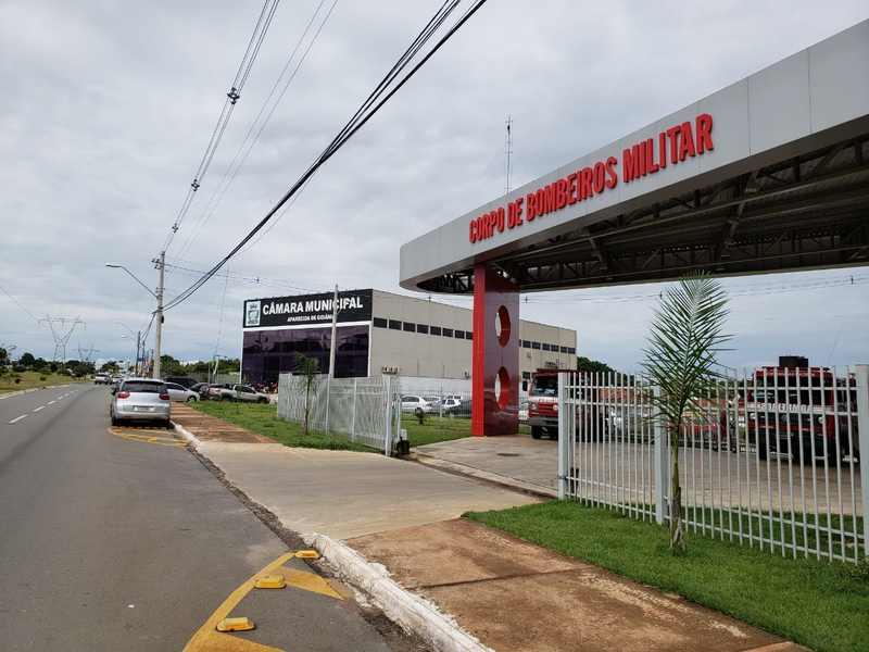 Prédio da Câmara de Aparecida é vizinho da Unidade de Inspeções e Análise de Projetos do Corpo de Bombeiros no Residencial Maria Luíza   Foto: Folha Z