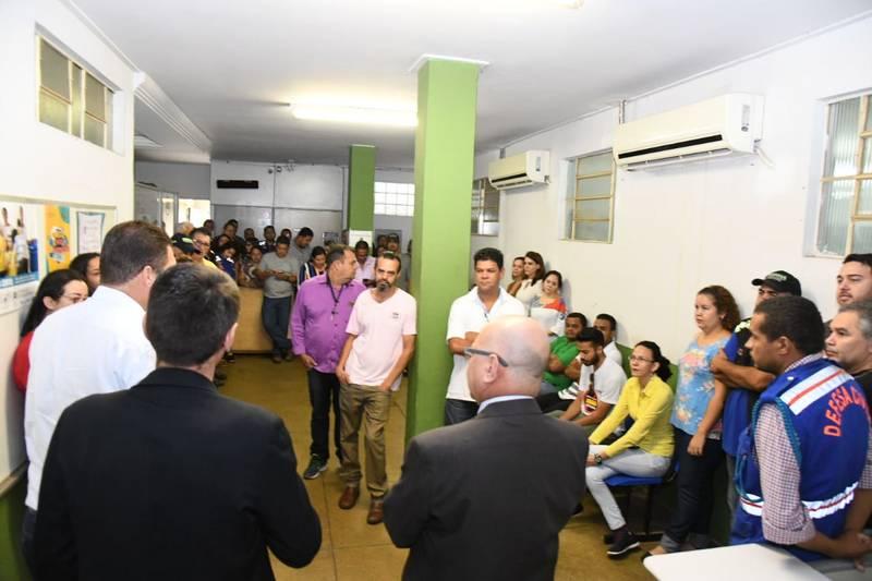 Sem a presença do prefeito Mendanha, grupo alcidista assume Semma   Foto: Valdemy Teixeira