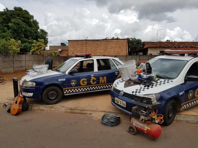 Aparecida: GCM prende suspeitos e apreende objetos de furto em escola | Foto: Divulgação