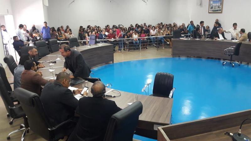 Manifestação de professores lota galerias da Câmara de Aparecida | Foto: Divulgação / Assessoria da Câmara