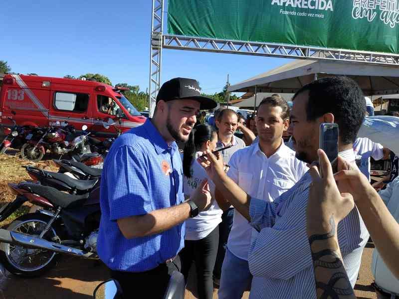 'Oportunistas', diz Mendanha sobre candidatos de fora de Aparecida