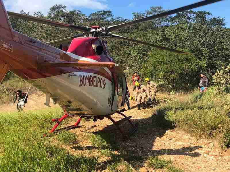 Homem fratura costelas em acidente de motocross na Serra das Areias | Foto: Divulgação / CBMGO