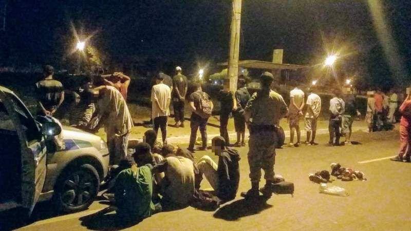 Grupo é preso após fazer arrastão no Aparecida é Show   Foto: Divulgação / PM